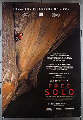 Free Solo (2018) NOT A DVD !! Original U.S. One-Sheet Movie Poster Climbing film directed by JIMMY CHIN and...