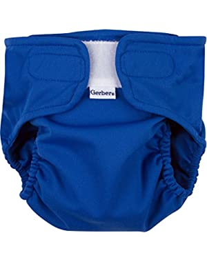 All-in-One Reusable Diaper with Insert Starter Set, Blue, Large
