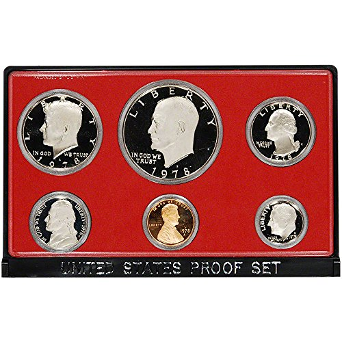 Proof Coins Us Dollar (1978 S US Mint 6-Piece Proof Set with Proof Ike Dollar Proof OGP)