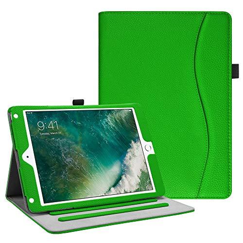 Fintie iPad 9.7 2018 2017 / iPad Air 2 / iPad Air Case - [Corner Protection] Multi-Angle Viewing Folio Cover w/Pocket, Auto Wake/Sleep for Pad 6th / 5th Gen, iPad - Multi Generations Green