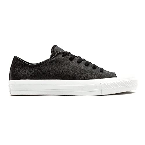 3a800c71a3ed Converse New Unisex Black Leather Upper Upper Fashion Pumps - Black White -  UK Size