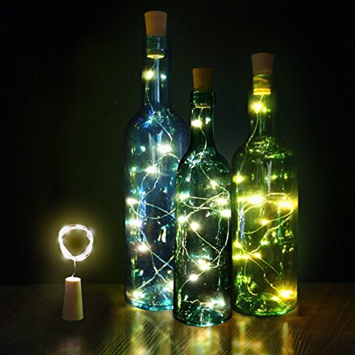 Columbus Halloween - Innozon Wine Bottle Light Cork Lights 4.26ft/1.3m 15 LEDs Copper Wire Starry String Light for Bottle DIY and Party, Christmas, Halloween, Décor, Xmas Gift, 6 Pack, Warm White