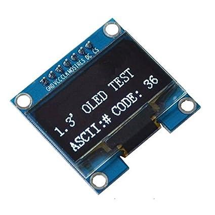 Amazon com: TOOGOO 1PCS 1 3 inch White SPI Serial 128x64