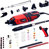 NoCry 10/125 Professional Rotary Tool Kit with Heavy Duty 170W/1.4A Electric Motor, Universal 3-Jaw Chuck, 10...