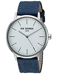 Ben Sherman Men's WB009UA Portobello Social Analog Display Quartz Blue Watch