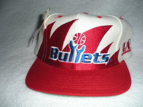 Washington Bullets Vintage Sharktooth Snapback Hat by Logo Athletic