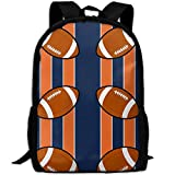 Stylish Laptop Backpack Denver Broncos Fabric (4865) Brand School Backpack Bookbags College Bags Daypack