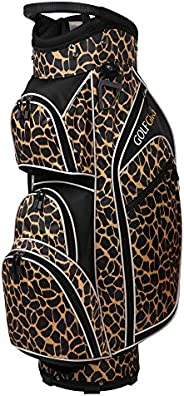 Golf Girl Ladies 14 Way Cart Bag - Leopard Skin