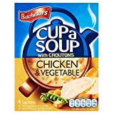 Batchelors Cup A Soup with Croutons Chicken And Vegetable 4S 110G by Premier Foods