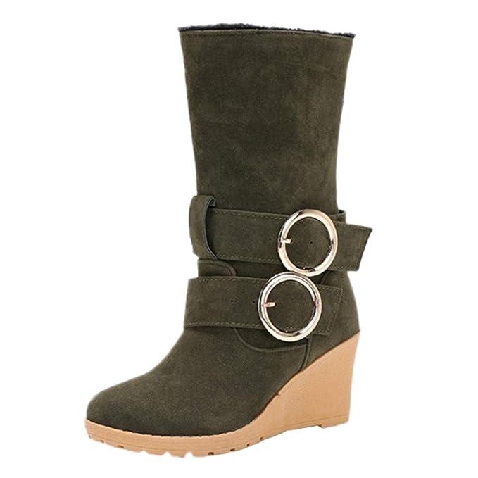 Para De Cuñas Mymyguoe Zapatos Mujer Invierno Botas mujeres 8HnqZqOp