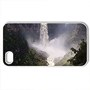 Tequendma Falls - Columbia - Case Cover for iPhone 4 and 4s (Waterfalls Series, Watercolor style, White)