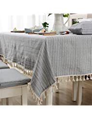 Amazon.com: Grey - Tablecloths / Kitchen & Table Linens: Home ...