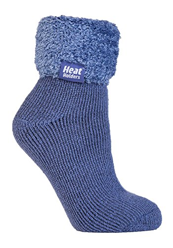 Heat Holders - Lounge Thermal Non Slip Bed Socks With Grip for Women 8 Colours (HHL02)