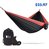 Bear Butt Double Hammock - Going Outdoors Backpacking Camping Or Hiking - Then Get The Best Lightweight Parachute Hammocks - 2 Year Company On Amazon - The Reviews Say It All