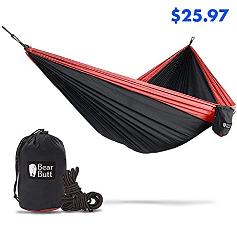 Bear Butt #1 Double Hammock - A Start Up Company With Top Quality Gear At Half The Cost Of The Other Guys (Black / - Mens Social Web