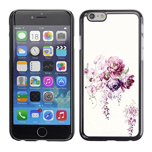 Caoutchouc Hard Case Shell Housse de protection Accessoire BY RAYDREAMMM - Apple iPhone 6 - Flower White Bouquet Begonia