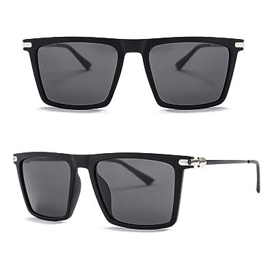 Amazon.com: Roupai - Gafas de sol polarizadas cuadradas para ...