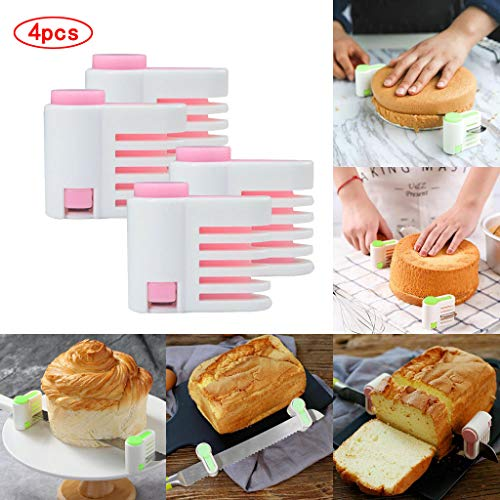 aliveGOT DIY Cake Slicer, Stratification Auxiliary, Bread Slice, Toast Cut, 5 Layers Leveler Slicer, Kitchen Fixator Tool