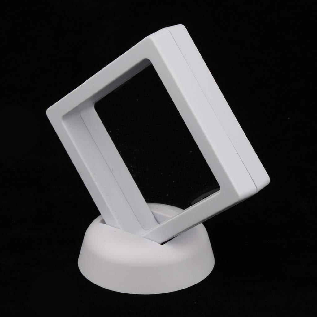 Blanc Homyl 3D Support de Support de Bo/îte de Cas de Cadre dAffichage de Bijoux de Flottement 7x7cm