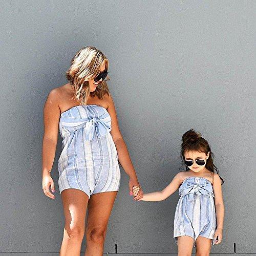 0bc96d5d7417 Amazon.com  Winsummer Parent-Child Shirt Mom Me Family Matching Clothes  Stripe Romper Jumpsuits Shorts Pants for Photoshoot  Clothing