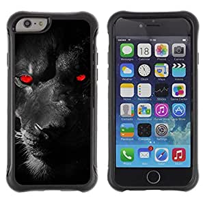 Suave TPU GEL Carcasa Funda Silicona Blando Estuche Caso de protección (para) Apple Iphone 6 / CECELL Phone case / / Puma Panther Red Demon Monster Feline Eyes /