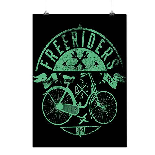 Free Riders Bike Gang Cycle Mob Matte/Glossy Poster A3 (12x17 inches) | Wellcoda