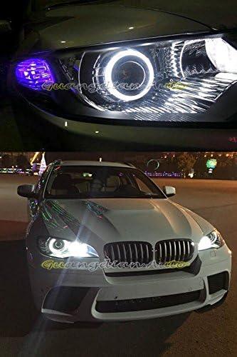 AMAZENAR 2-Pack Outside Diameter 70MM 2.75,12V Extremely Bright White COB Halo Circle Ring Head Light Angel Eye Lamp for Motorcycle Headlight Foglight Day Running Light DRL