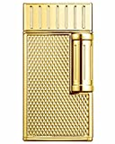 Julius Traditional Flame Cigar Lighter in an Attractive Gift Box with Leather Pouch Warranty Polished Gold