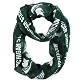NCAA Michigan State Spartans Sheer Infinity Scarf, One Size, Green