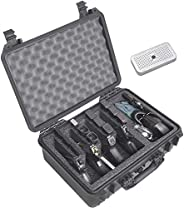 Case Club Waterproof 4 Pistol Case with Accessory Pocket & Silica