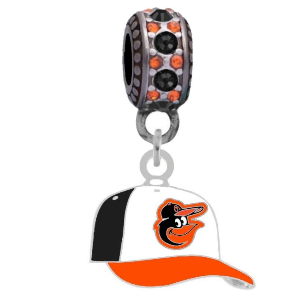 Baltimore Oriolesボールキャップチャームフィットヨーロピアンスタイル大きな穴ビーズブレスレット   B009NRVO7E