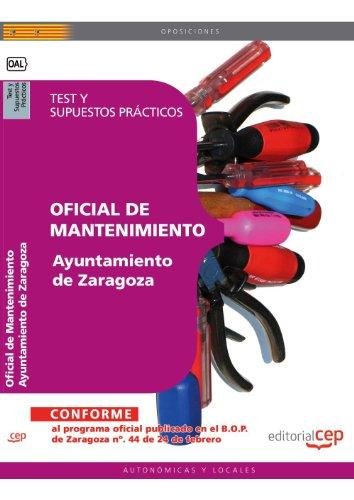 Descargar Libro Oficial De Mantenimiento Ayuntamiento De Zaragoza. Test Y Supuestos Prácticos Sin Datos