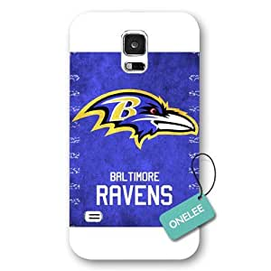Onelee(TM) - Black Frosted Baltimore Ravens Samsung Galaxy S5 Case & Cover - NFL LOGO Samsung Galaxy S5 Case & Cover - White 1 wangjiang maoyi by lolosakes