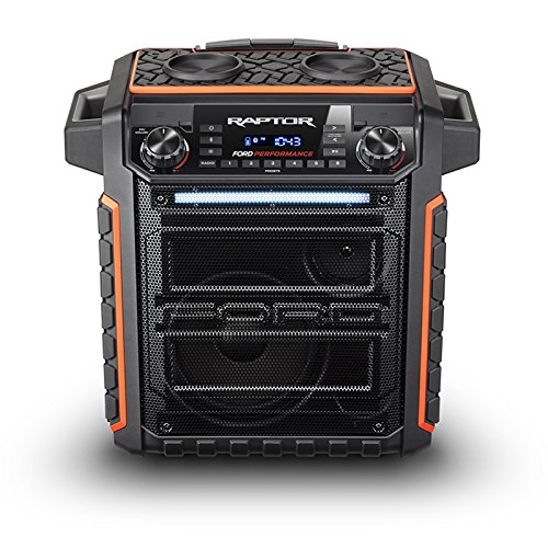 Ion Audio Raptor | Wireless Ford Themed Portable PA Speaker with IPX4 Water Resistance, Mic, AM/FM Radio, and USB Charge Port by ION Audio