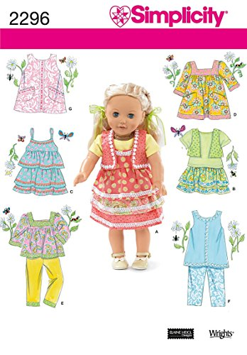 (Simplicity Sewing Pattern 2296 Doll Clothes, One Size)