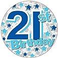 Age 21 Male Giant Birthday Party Mega Badge 14.5cm x 14.5cm - 21st Birthday