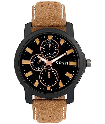 Spyn analogue Black dial Watches for Men – SL0021B