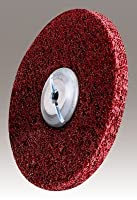 3M (MF-UW) Metal Finishing Unitized Wheel, 6 in x 1/2 in x 1/2 in 5A MED [You are purchasing the Min order quantity which is 4 Wheels]
