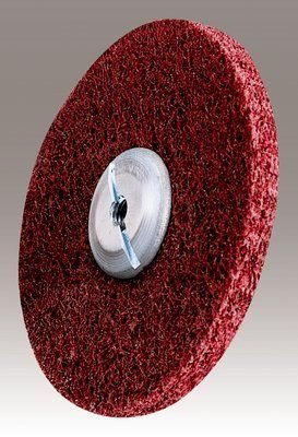 3M (MF-UW) Metal Finishing Unitized Wheel, 6 in x 1/2 in x 1/2 in 5A MED [You are purchasing the Min order quantity which is 4 Wheels] by 3M