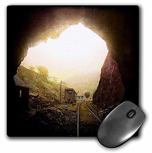 Price comparison product image 3dRose Scenes from the Past Magic Lantern Slide - Hoosac Railroad Tunnel Massachusetts - MousePad (mp_16144_1)