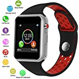 SUNETLINK Smart Watch, Touch Screen Bluetooth Smart Watch,Sport Smart Fitness Tracker Wrist Watch with Camera,Sweatproof Smart Watch with SIM TF Card Slot Compatible Samsung LG iOS Men Women Kids