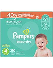 Diapers Size 4 - Pampers Baby Dry Disposable Baby Diapers, 210 Count, Ultra Value Pack (Packaging May Vary)