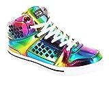 Gotta Flurt Hip Hop HD II Lace Up 3/4 Top High Top Sneaker, Multi/White, 5.5