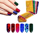 #1: Beaute Galleria - 50 Sheets per set Shiny Sparkly Galaxy Laser Holographic Starry Sky Colorful Nail Art Transfer Foils Glitter Flakes Sequins Paillette Sticker Manicure Tip Decoration
