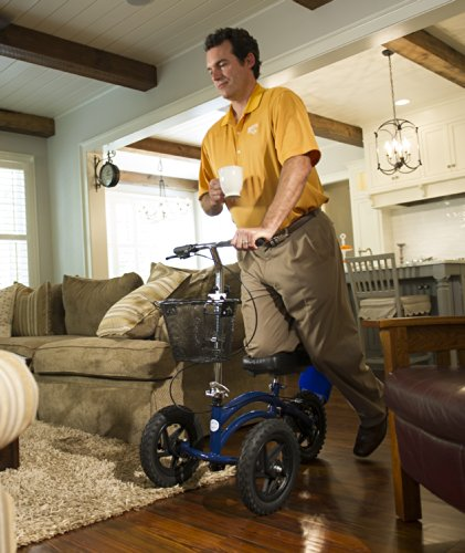 All Terrain KneeRover Steerable Knee Scooter Knee Walker Heavy Duty Crutches Alternative...