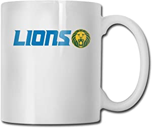 MMiioocc Coffee Mug Detroit Lions Logo Color Personalized Cup, Travel Mug,Custom Best Friend Gifts,Christmas Gifts