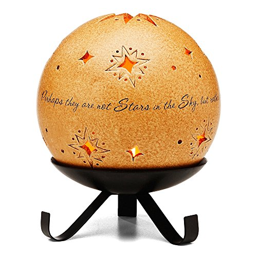 Comfort Candles in Memory by Pavilion Includes Tea Light Candle and Stand, 6-1/2-Inch, Star Pierced - Candle Stand Star