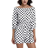 MISS MOLY Sexy Rompers for Women Off Shoulder Strapless Summer Shorts Jumpsuits Casual/Beach/Party