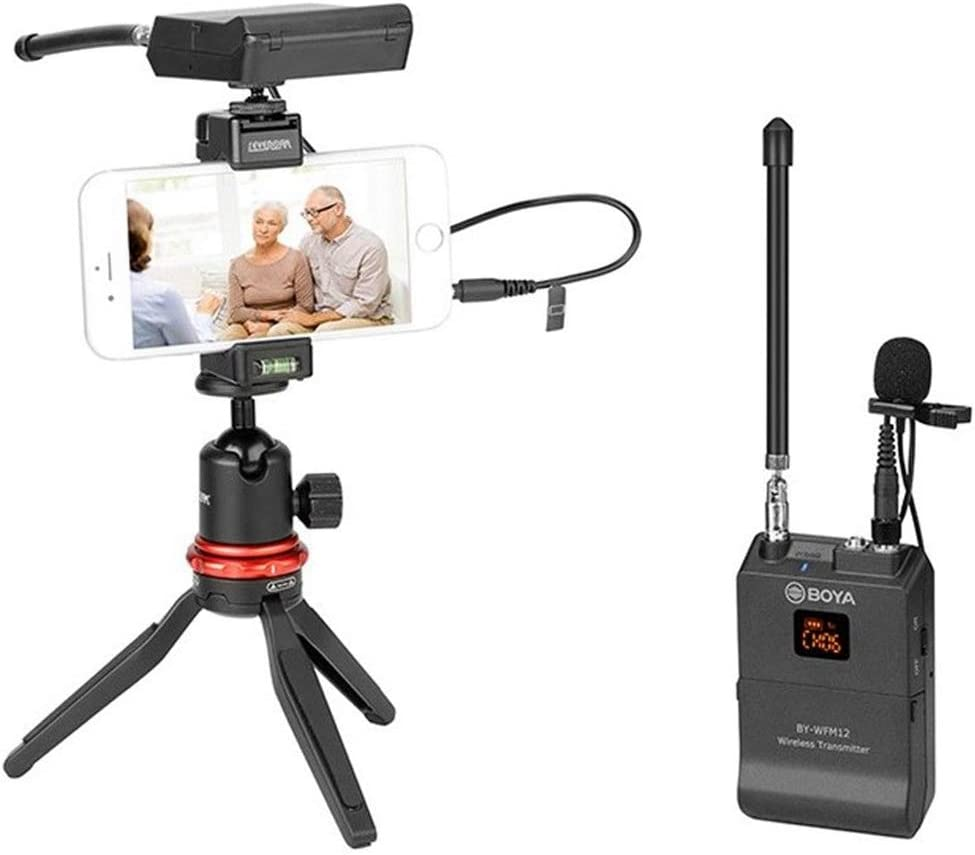 Panasonic Market/&YCY BY-WFM12 lavalier Microphone DSLR Camera Nikon Audio Recorder VHF Lapel System for Canon DV Camcorder Sony 12 Channels