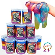 Kicko Marbled Unicorn Color Slime - Colorful Galaxy Sludge - Gooey Fidget Set for Sensory and Tactile Stimulat